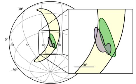 Localisation de la source des ondes gravitationnelles.