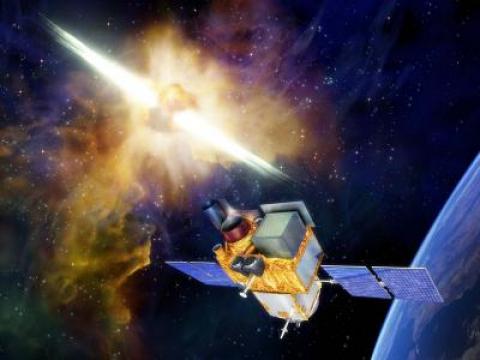 Vu artistique du futur satellite SVOM © Cnes