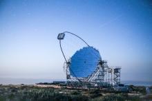 La Palma, Îles Canaries, Espagne - Entre janvier et février 2020, le prototype de télescope de grande taille (LST), le LST-1 récemment mis en service sur le site CTA-Nord sur l'île de La Palma dans les îles Canaries, a observé le pulsar du Crabe au centre de la nébuleuse du même nom.